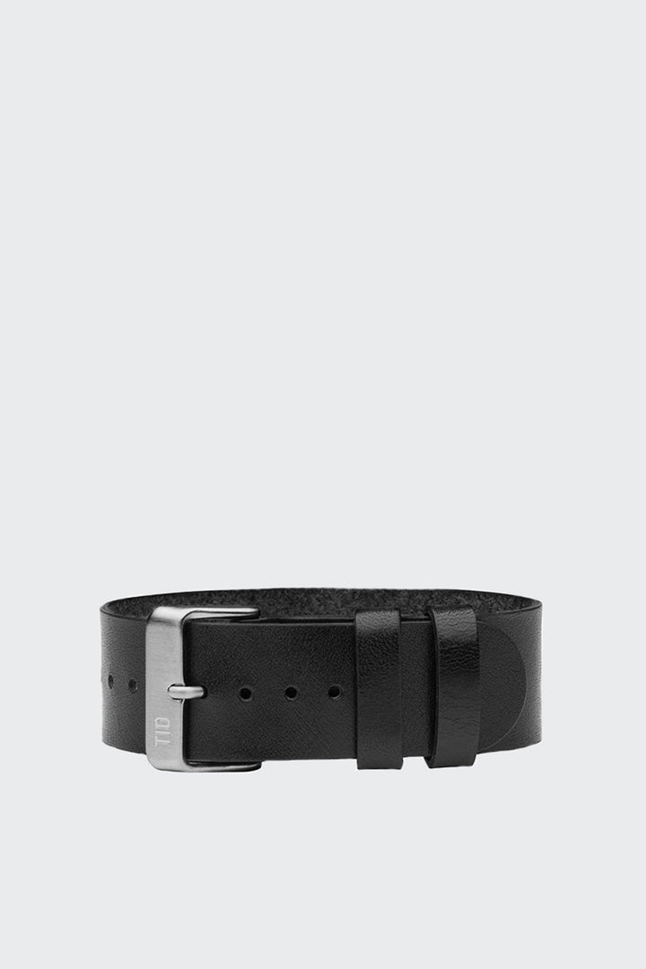TID Watches Wristband - black leather/steel buckle | GOOD AS GOLD | NZ