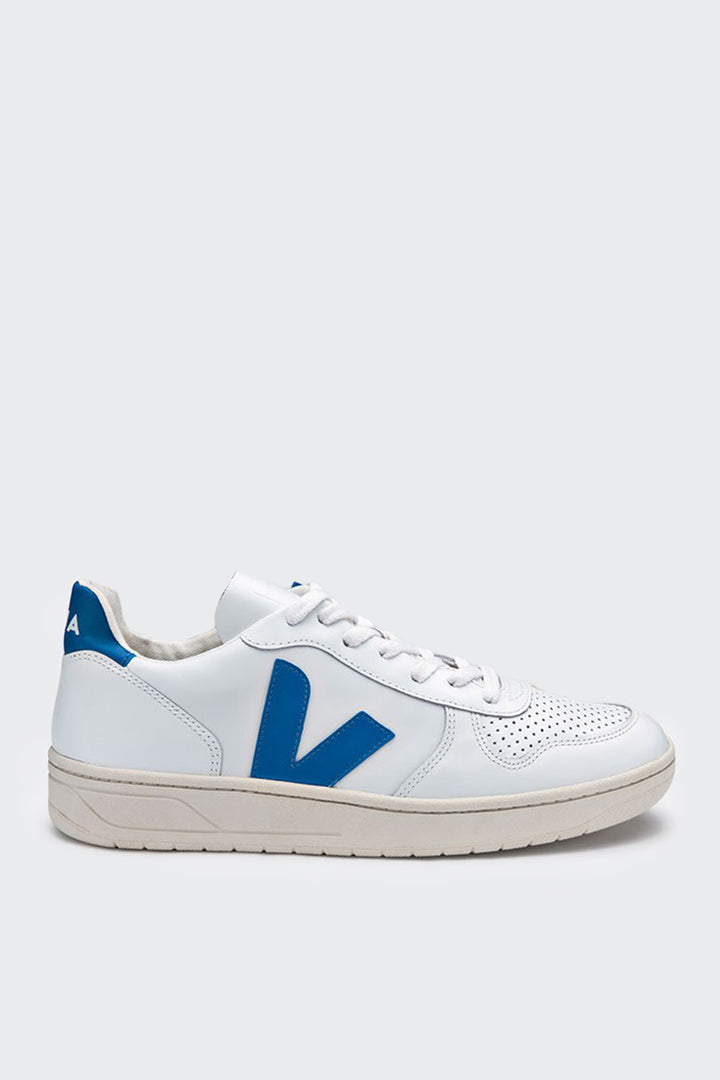 Veja V10 Leather - extra white/swedish blue | GOOD AS GOLD | NZ