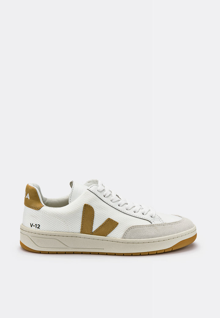 Veja V12 BMesh - white/desert — Good as Gold