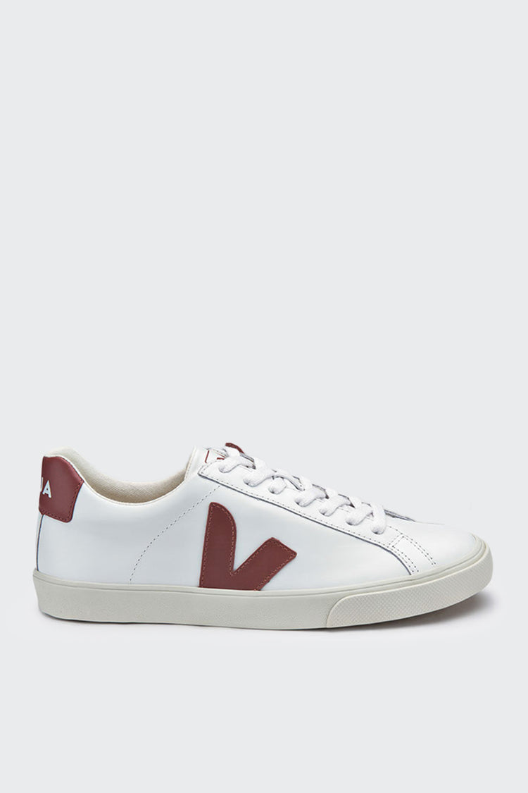 Veja Esplar Low Leather - extra white/dried petal | GOOD AS GOLD | NZ