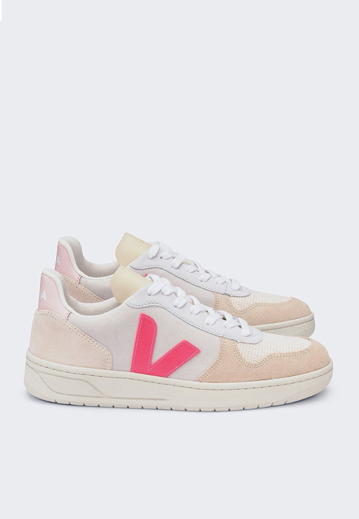 V10 Suede - multico/natural/rose fluo