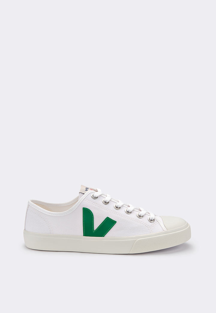 Veja Wata Canvas - white/emerald – Good as Gold