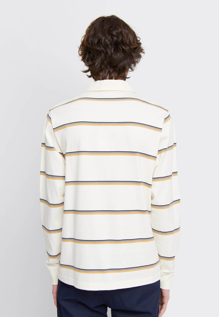 Beck Polo Long Sleeve - off white stripes