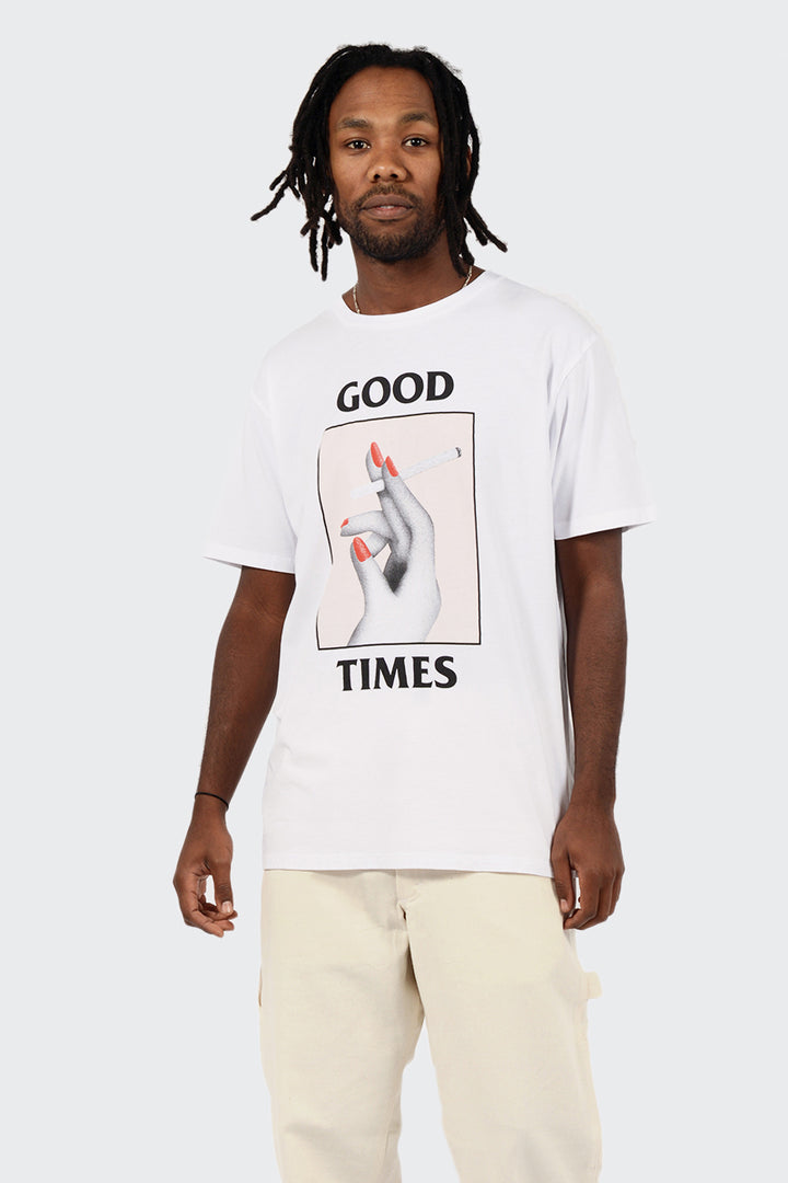 Wood Wood Good Times T-shirt - bright white | GOOD AS GOLD | NZ