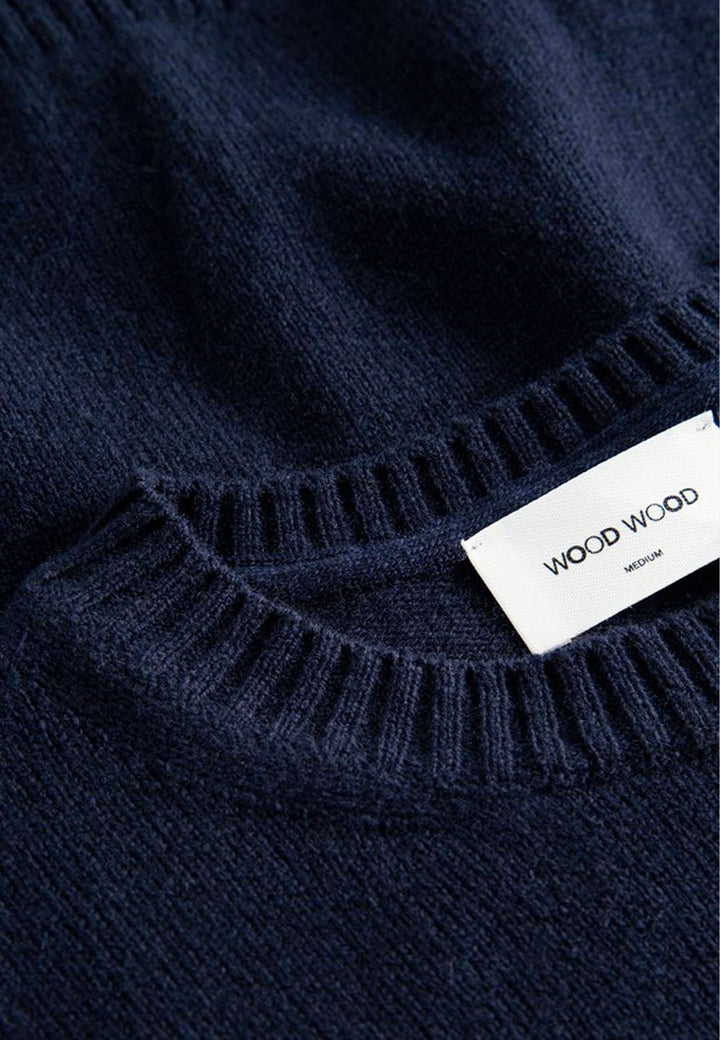 Kevin Lambswool Jumper - navy