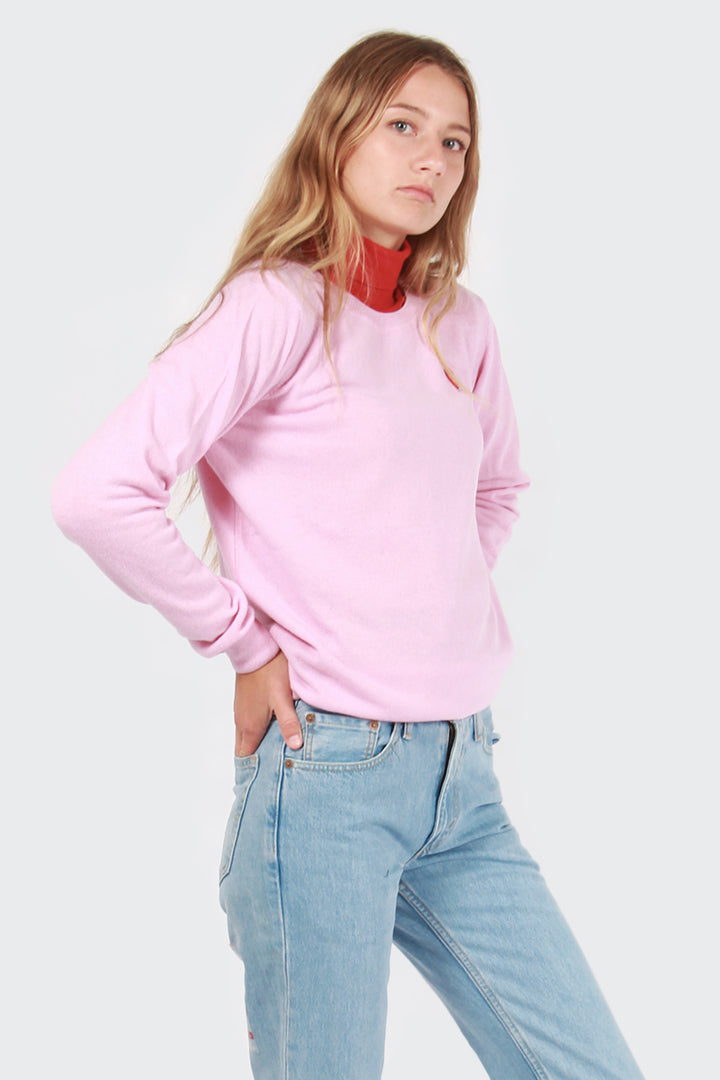 Wood Wood Ava Crewneck Sweater - light pink | GOOD AS GOLD | NZ