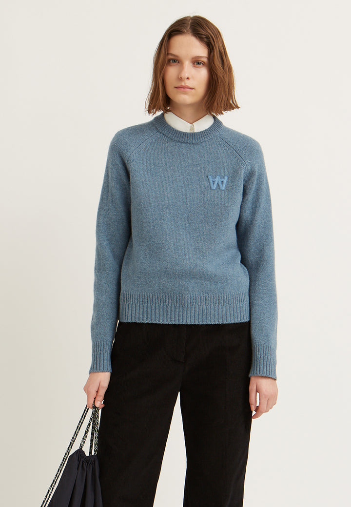 Asta Knit Sweater - dusty blue