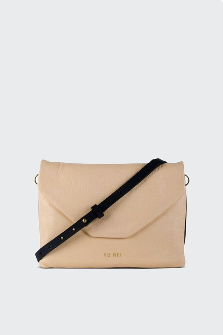 Yu Mei 2/6 Rebecca Bag - butter/hunter suede | GOOD AS GOLD | NZ