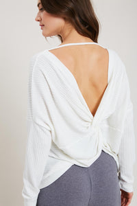 Choose Cozy Waffle Top - Ivory