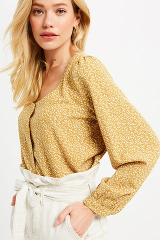 Downtown Girl Crop Top - Mustard