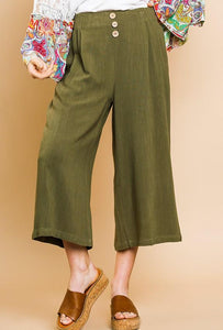 High Life Linen Pants - Olive