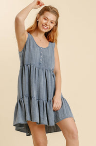 Casual Outings Dress - Light Denim