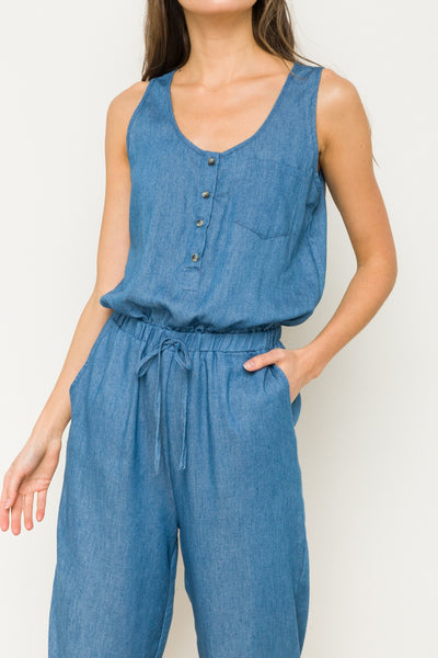 Best Days Chambray Jumpsuit