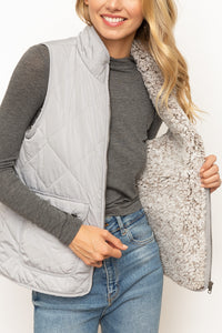 Daydreamer Puffer Vest - Light Grey