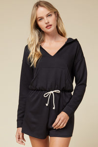 Cozy Up Romper - Black