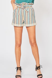 Lauderdale Striped Shorts - Jade