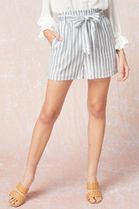Socialite Striped Shorts - Blue