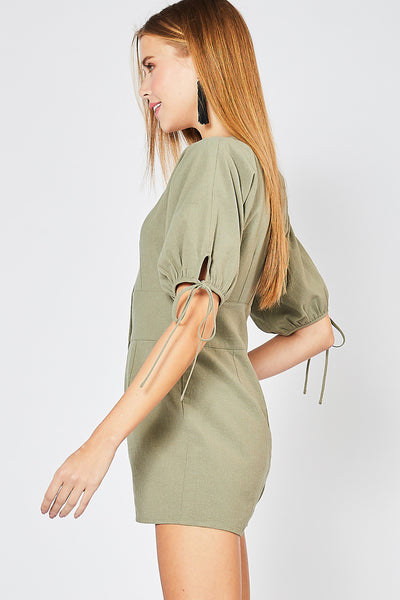 Sweeter Days Romper - Olive