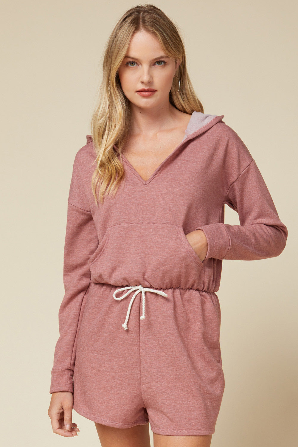 Cozy Up Romper - Marsala