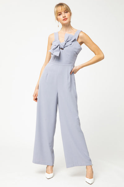 Heartbreaker Jumpsuit - Lilac Grey