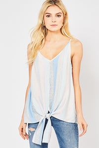 Smitten in Stripes Top - Blue