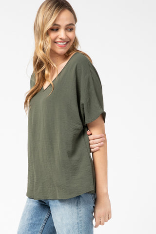 Less is More Top - Olive