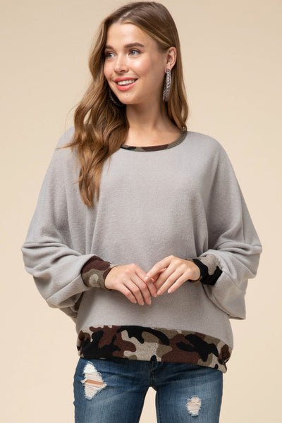 Cozy in Camo Sweater