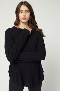 Keep It Cozy Top - Black