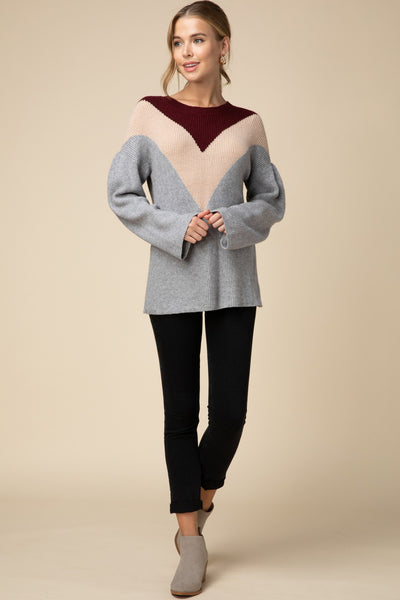 Flock Together Sweater - Burgundy