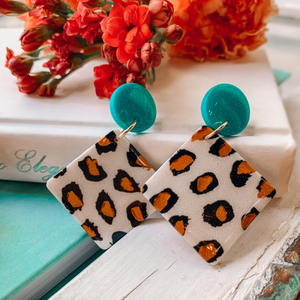 Wild Card - Polymer Clay Earrings