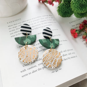 Camo Party - Polymer Clay Earrings
