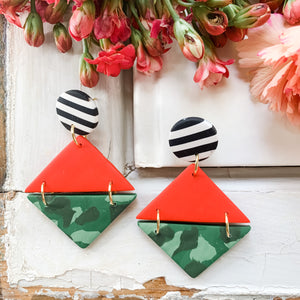 Jungle Fever - Polymer Clay Earrings