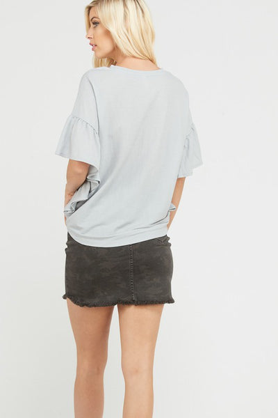 Ruffle Your Feathers Tee - Dove