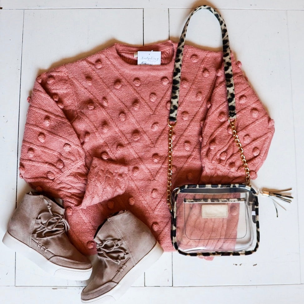 True Love Sweater - Blush
