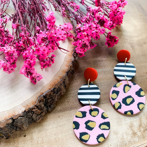 Ice Cream Sundae  - Polymer Clay Earrings