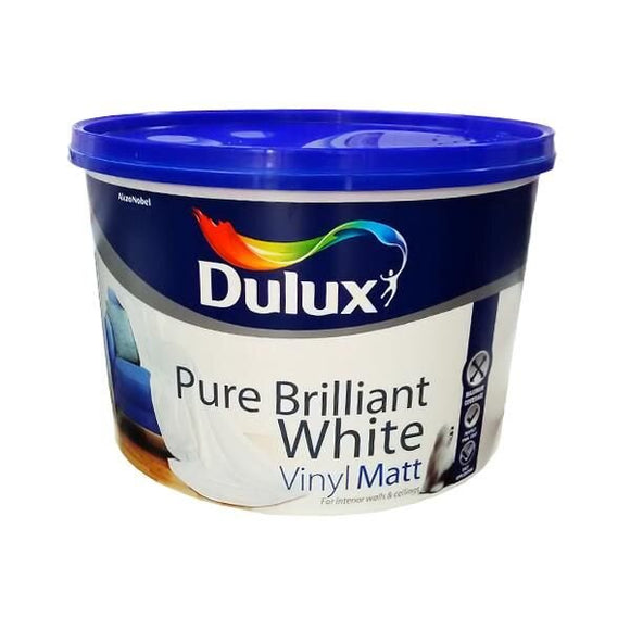 Dulux Vinyl Matt Pure Brilliant White 10L