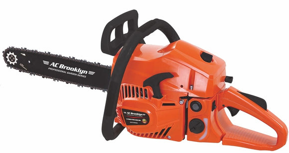 AC Brooklyn Petrol Chainsaw + Goggles + Gloves