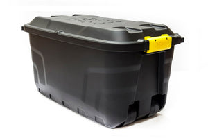 75L Storage Trunk With Wheels Blk