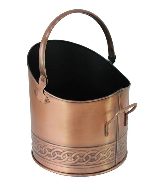 Copper Celtic Band Half Coal Hod