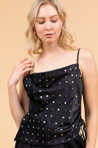 Black Polka Dot Cami