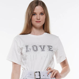 LOVE sequin T shirt