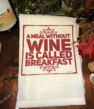 Whimsical WINE Towels