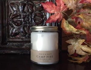 Camp Fire-  Hand Poured Soy Candle