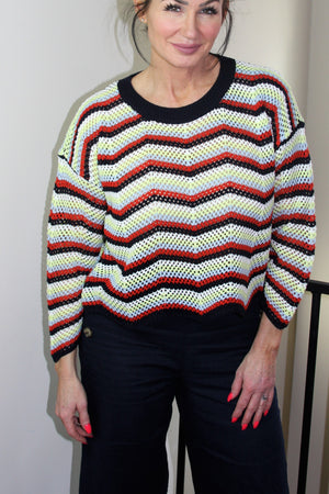 Open Weave Crop Sweater