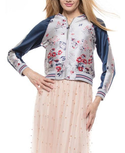 Pink Jacquard Baseball Jacket- You'll be a HIT