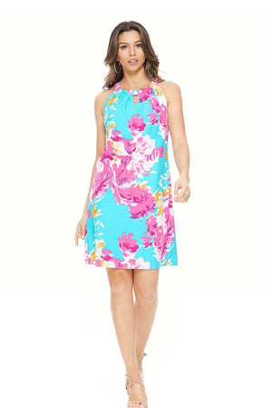 Pink Flowers Aryeh Dress