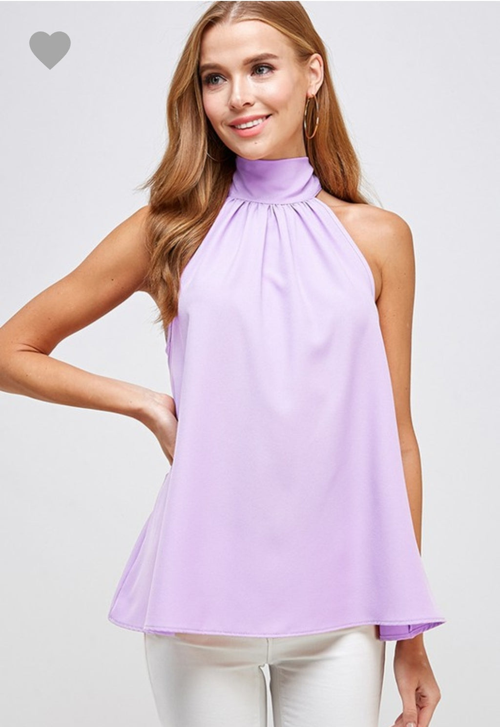 Lilac Bow Tie Blouse