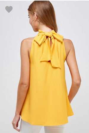 Marigold Bow Tie Blouse