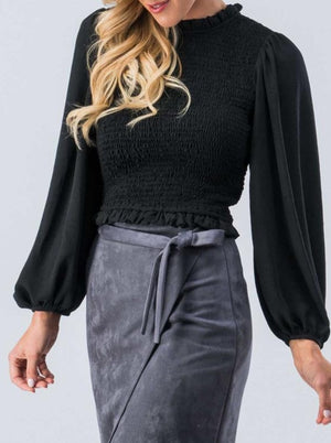 Ruched Top with Full Sleeve