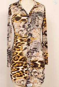 Fall Safari Body Con Print Dress